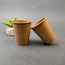 Одноразовый бумажный стакан КРАФТ 185 мл. (50 шт)