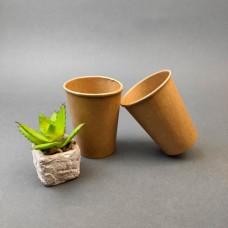 Одноразовый бумажный стакан КРАФТ 250 мл. (50 шт)