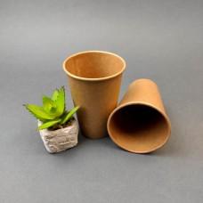 Одноразовый бумажный стакан КРАФТ 340 мл. (50 шт)