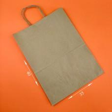 Пакет бумажный коричневый с ручкой 350*140*400 мм