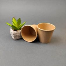 Одноразовый бумажный стакан КРАФТ 110 мл. (50 шт)