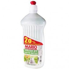 """Бальзам для посуды 1 л. """"Mario"""" ЗЕЛЕНОЕ ЯБЛОКО"""