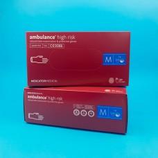 Перчатки латексные (M) Ambulancе (25 пар)