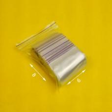 Пакет струна с замком zip lock 6*8 (100 шт) зип. пакет