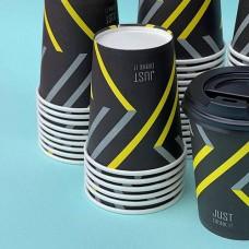 Одноразовый бумажный картонный стакан 270 мл (50 шт) с рисунком