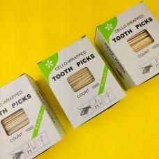 Зубочистки в индивидивидуальной упаковке с ментолом