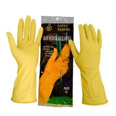 Перчатки резиновые жолтые (XL)