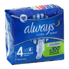 Прокладки Always Ultra Night 6 кап  (7 шт)