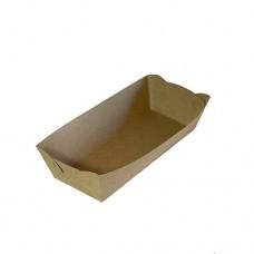 Тарелка лодочка 194*116*50 мл. КРАФТ (50 шт.)