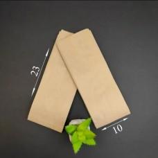 Пакет бумажный САШЕ БУРЫЙ ВТ (100 шт.) 100*40*230 мм