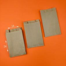 Пакет бумажный САШЕ БУРЫЙ ВТ (100  шт.) 140*50*280 мм