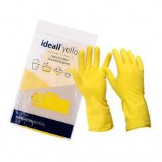 Перчатки резиновые (L) Ideall Yellow