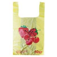 Майка пакет 30*55 КЛУБНИЧКА ЛЮКС 50 кг