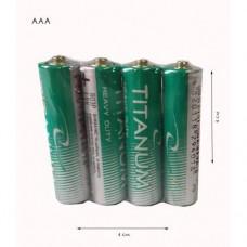 Батарейки ААА Titanium солевые