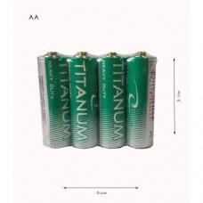 Батарейки АА Titanium солевая