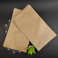 Пакет бумажный САШЕ бурый 360*210*60 мм