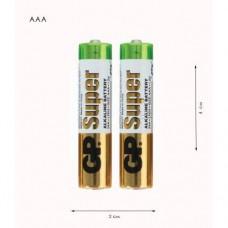 """Батарейки ААА """"GP Alkaline""""  LR3"""