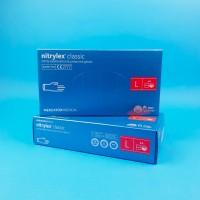 Перчатки нитриловые (L) Nitrylex Basic СИНИЕ (50 пар)