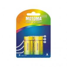 """Батарейки C """"Мотома """" солевые 1.5V R14P-2B блистер (2шт)"""