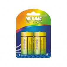 """Батарейки D """"Мотома"""" солевые 1.5V R20 P-2B блистер (2шт)"""