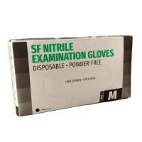 Перчатки черные нитриловые неопудренные M Nitrylex Black (50 пар)