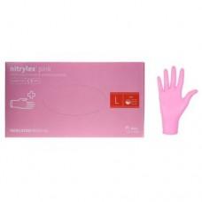 Перчатки нитриловые (L) Nitrylex РОЗОВЫЕ (50 пар)